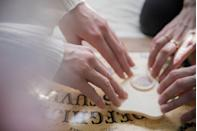 "<p>The first Ouija board was <a href=""http://mentalfloss.com/article/71923/25-not-so-crabby-facts-about-maryland"" rel=""nofollow noopener"" target=""_blank"" data-ylk=""slk:invented in Baltimore"" class=""link rapid-noclick-resp"">invented in Baltimore</a> by Elijah Bond, who proudly selected its design for his tombstone. Apparently, when Bond asked the board what it wanted to be called, it spelled out ""O-U-I-J-A.""</p>"