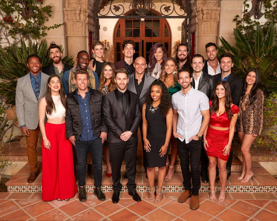 """A bizarre new <em>Bachelor</em> spin-off, on which, <a href=""""https://abc.com/shows/the-bachelor-presents-listen-to-your-heart"""" rel=""""nofollow noopener"""" target=""""_blank"""" data-ylk=""""slk:according ABC,"""" class=""""link rapid-noclick-resp"""">according ABC,</a> """"20 single men and women embark on an incredible journey to find love through music."""" I'm into it, if one couple sings a Britney Spears song. Also, we don't know when we'll get new episodes from the main franchises, so this may be your fix for a while Bachelor Nation. <em>8 p.m. ET on ABC</em>"""