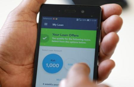 Branch app, an online financial micro lending platform is seen on a mobile phone in this photo illustration