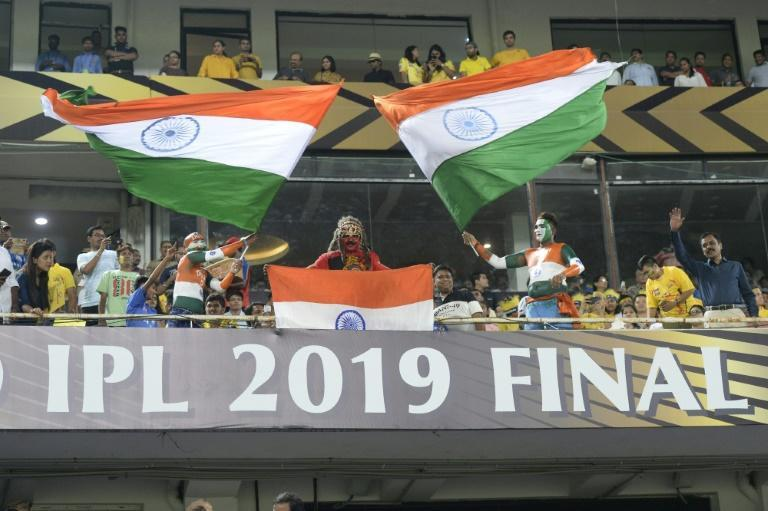 Fans wave national flags during last year's Indian Premier League final in Hyderabad