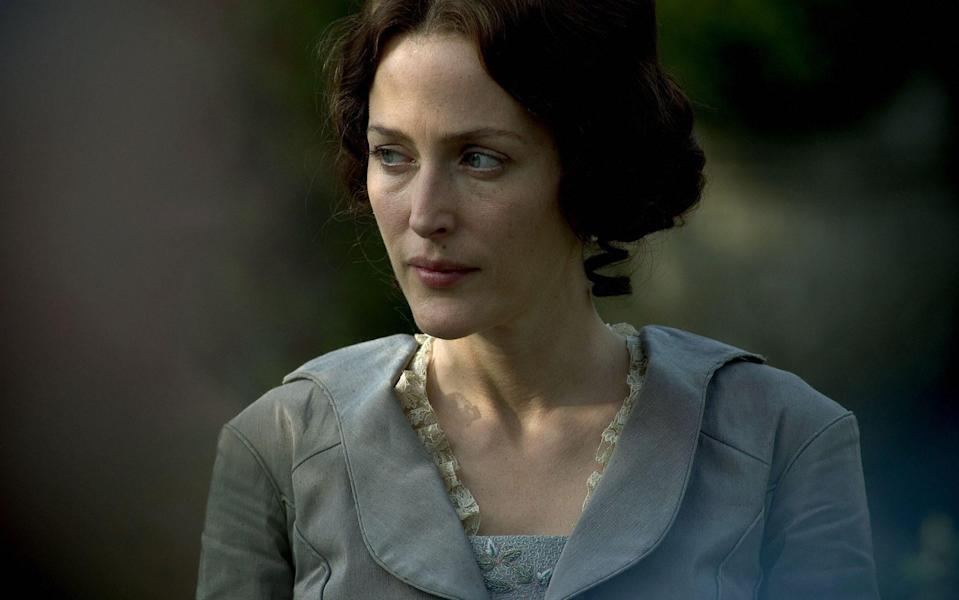 Gillian Anderson as Lady Dedlock, in the BBC's Bleak House. Charles Dickens was also influenced by Elizabeth Chudleigh for his aristocrat hiding a scandal - BBC/Mike Hogan
