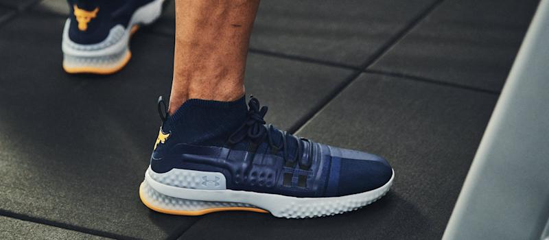 A pair of men's Under Armour sneakers.