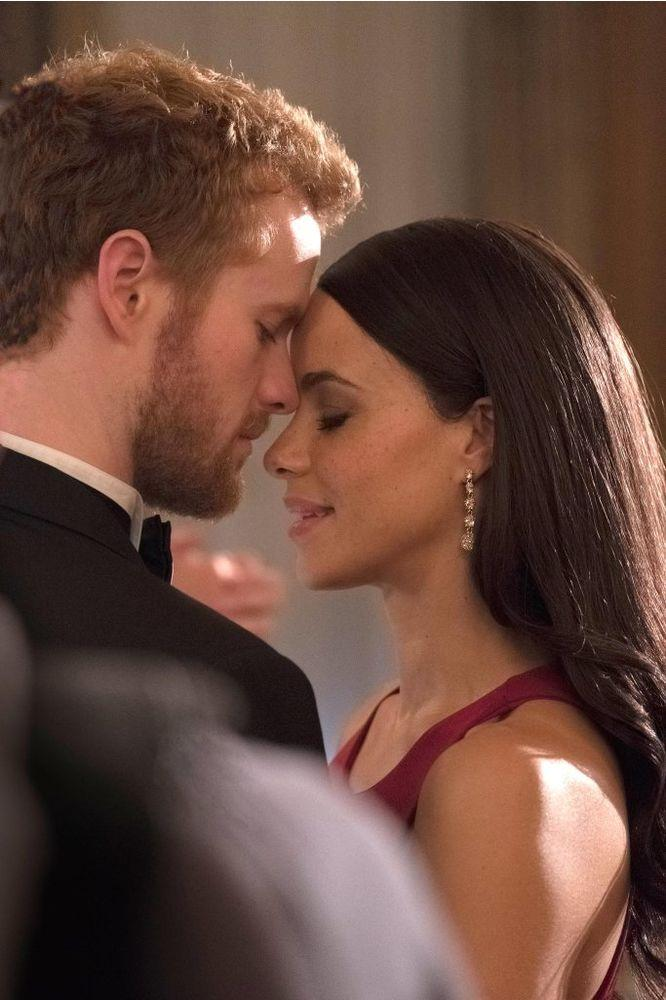 Parisa Fitz-Henley and Murray Fraser in Harry & Meghan: A Royal Romance | Lifetime