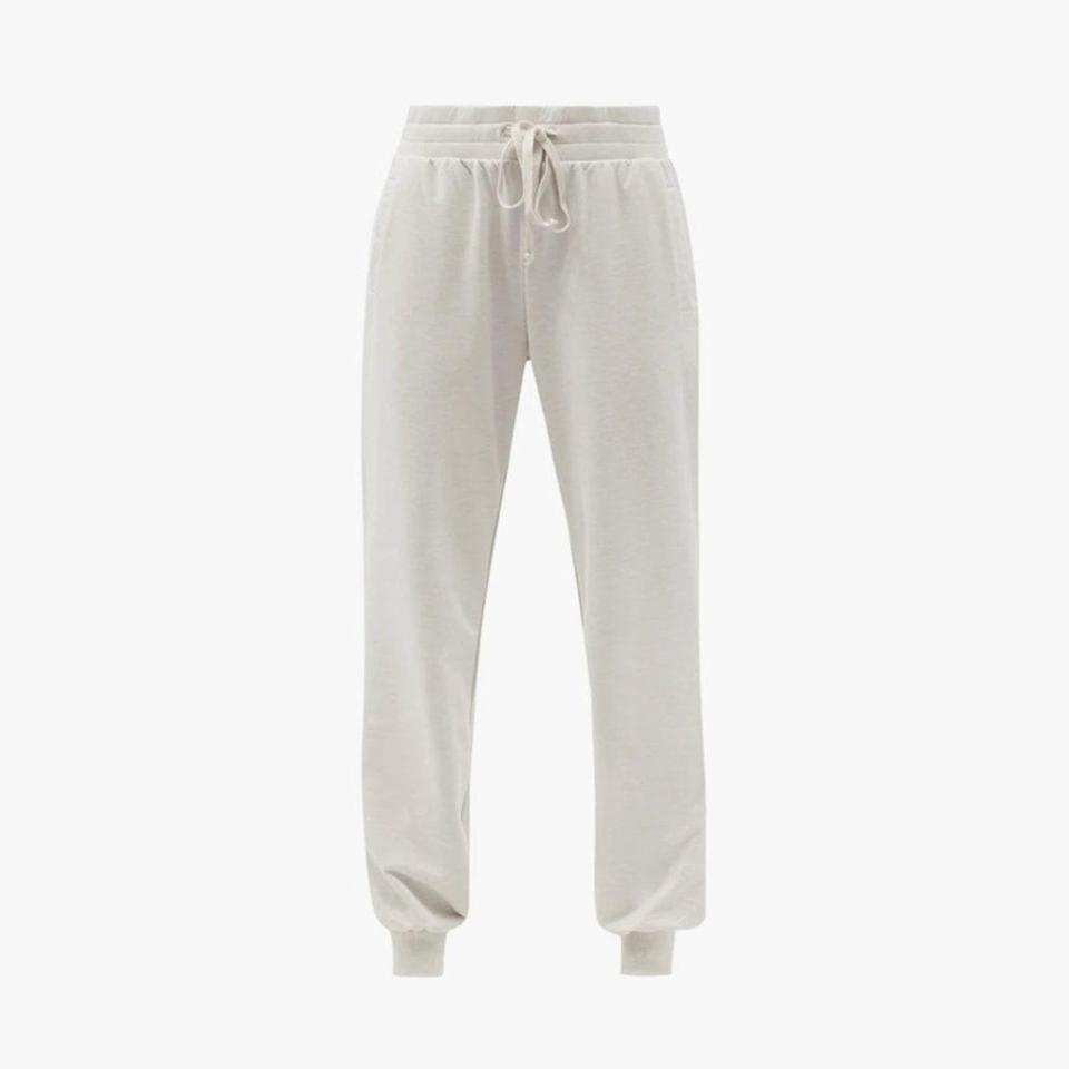 """$139, MATCHESFASHION.COM. <a href=""""https://www.matchesfashion.com/us/products/The-Upside-Marion-jersey-track-pants-1402277"""" rel=""""nofollow noopener"""" target=""""_blank"""" data-ylk=""""slk:Get it now!"""" class=""""link rapid-noclick-resp"""">Get it now!</a>"""