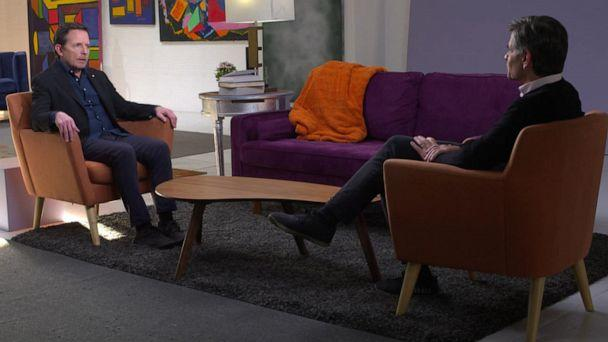 PHOTO: 'Good Morning America' co-anchor George Stephanopoulos speaks with actor Michael J. Fox about his new memoir, 'No Time Like the Future: An Optimist Considers Mortality.' (ABC News)