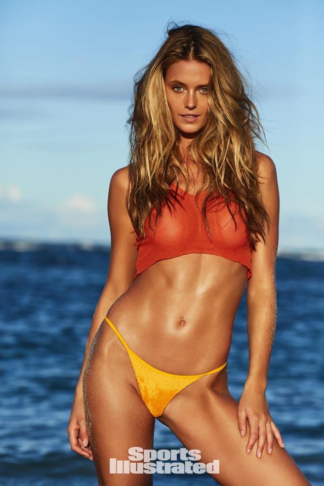 "<p>Kate Bock was photographed by Josie Clough in Nevis. Top by Rebecca for <a href=""https://www.born4bikinis.com/"" rel=""nofollow noopener"" target=""_blank"" data-ylk=""slk:born4bikinis"" class=""link rapid-noclick-resp"">born4bikinis</a>. Swimsuit by <a href=""http://www.itsnowcool.com/"" rel=""nofollow noopener"" target=""_blank"" data-ylk=""slk:Billabong x INC"" class=""link rapid-noclick-resp"">Billabong x INC</a>.</p>"