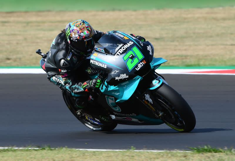 Morbidelli snatches maiden pole as Yamaha dominate in Barcelona