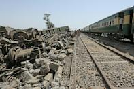 Dozens were killed in the train accident, which happened in a remote part of southern Pakistan