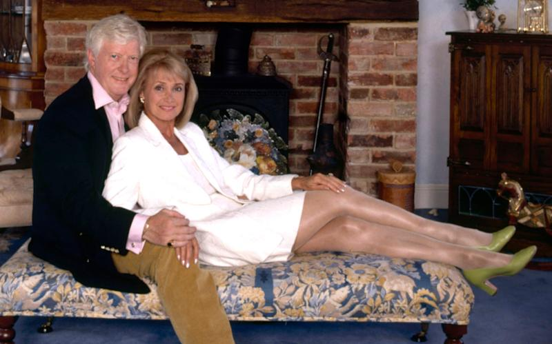 Chris Russell with his ex-wife, the television presenter Jan Leeming - Credit: JOHN PAUL BROOKE