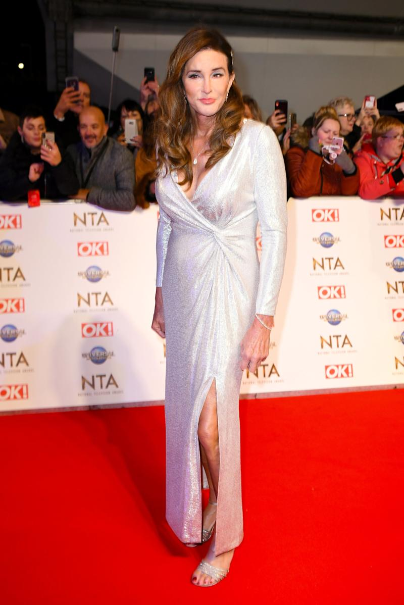 Caitlyn Jenner attending the National Television Awards 2020 held at the O2 Arena, London. Photo credit should read: Doug Peters/EMPICS