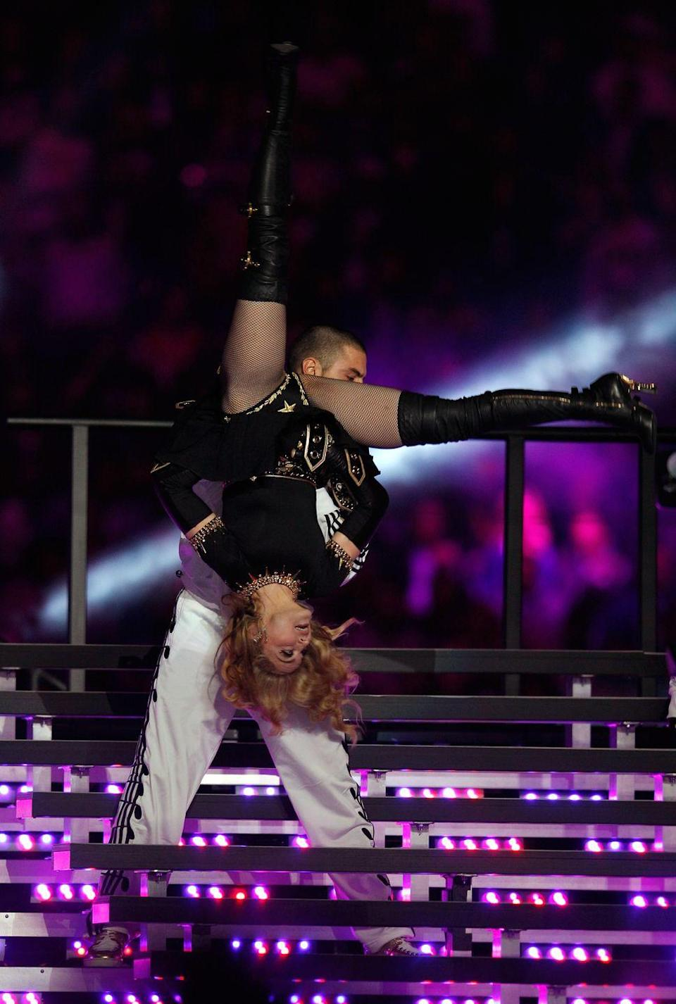 <p>Meanwhile, Madonna was busy doing this during the same show.</p>