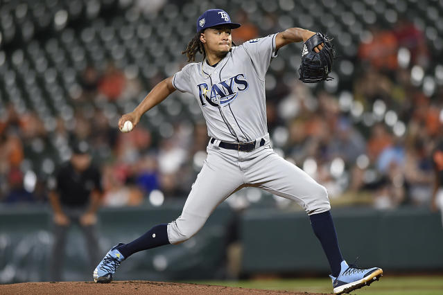 "The next time you see <a class=""link rapid-noclick-resp"" href=""/mlb/players/8849/"" data-ylk=""slk:Chris Archer"">Chris Archer</a>, he'll be wearing black and gold (AP Photo/Gail Burton)"