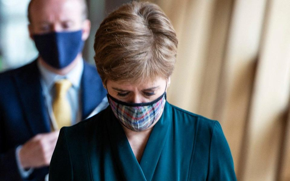 Scotland's First Minister Nicola Sturgeon arrives to attend First Minster's Questions - ANDY BUCHANAN/AFP
