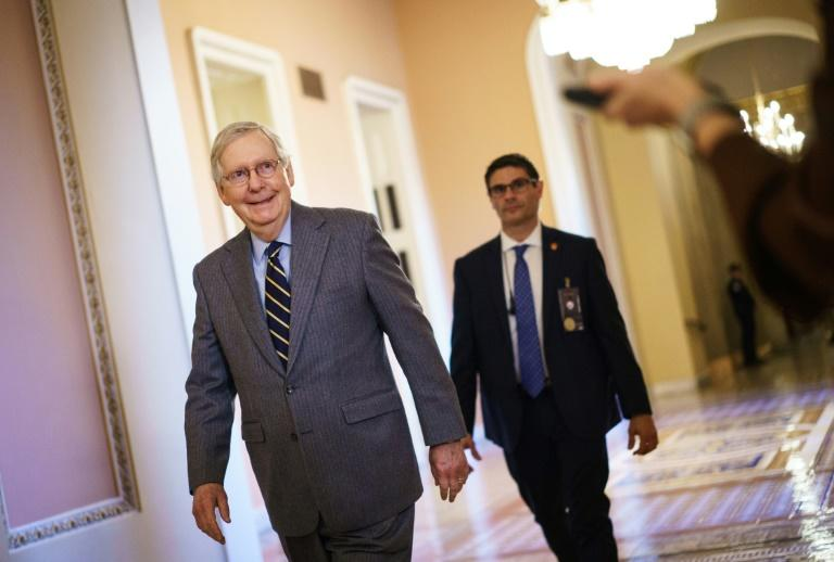 Republican Senate Majority Leader Mitch McConnell, a firm ally of the president (AFP Photo/Mandel NGAN)