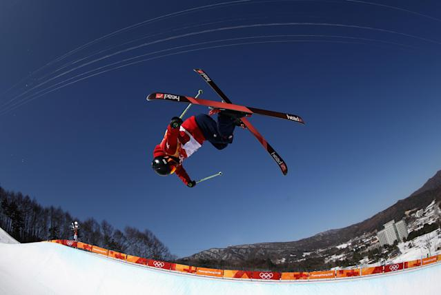 <p>Hong Chai of China in action during Freestyle Skiing Ski Halfpipe training on day eight of the PyeongChang 2018 Winter Olympic Games at Phoenix Snow Park on February 17, 2018 in Pyeongchang-gun, South Korea. (Photo by Clive Rose/Getty Images) </p>