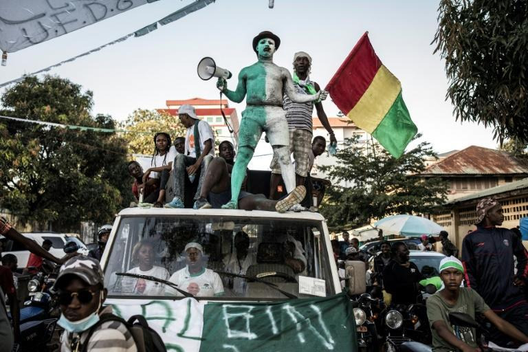 Supporters of defeated opposition candidate Cellou Dalein Diallo, pictured at a pre-election rally in Conakry on October 14