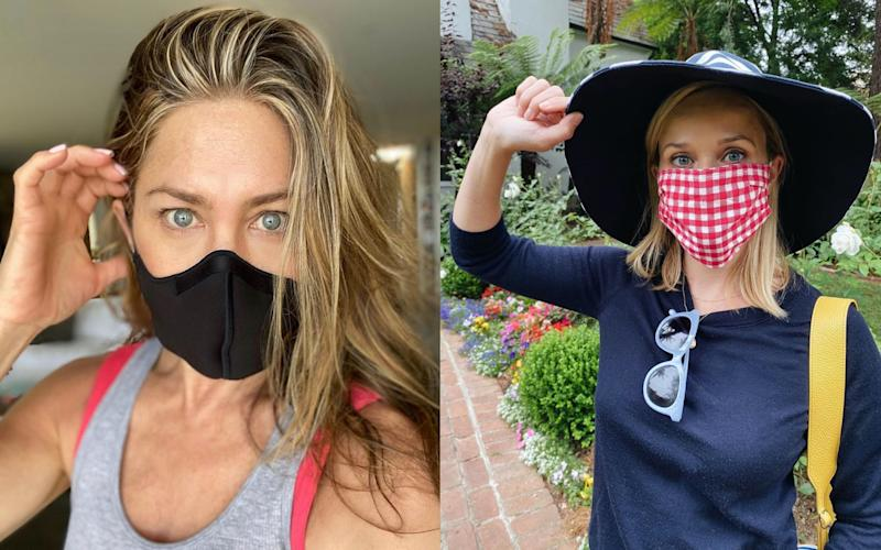 Jennifer Aniston and Reese Witherspoon join the #wearamask movement on Instagram - Instagram
