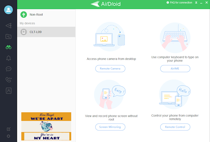 """AirDroid enabled us to remotely control the Android phone in my mum's isolation room"""