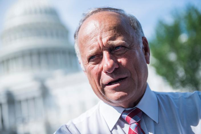 """Republican Rep.Steve King of Iowa gave a remarkably racist interview to an Austrian """"alt-right"""" site in August. (Photo: Tom Williams via Getty Images)"""
