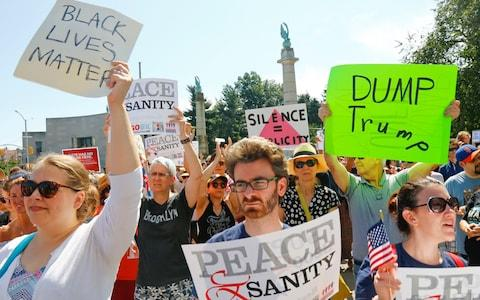 """DonaldTrump, the US president,defended his response to the weekend's racially charged protests in Charlottesville in a bruising exchange with reporters. In his remarks, Mr Trump described the rally as largely over the removal of a Confederate monument, although an organiser billed it as pushback against the """"anti-white climate"""". MrTrumpalso misstated his levels of political support in the 2016 election. Here, we look at his claims - andthe facts. On the 'rough, bad people' in the crowd What Mr Trump said """"But not all of those people were neo-Nazis, believe me. Not all of those people were white supremacists, by any stretch. Those people were also there because they wanted to protest the taking down of a statue, Robert E Lee... """"There were people in that rally, and I looked the night before. If you look, they were people protesting very quietly the taking down of the statue of Robert E Lee. I'm sure in that group there were some bad ones. """"The following day, it looked like they had some rough, bad people - neo-Nazis, white nationalists, whatever you want to call them. """"But you had a lot of people in that group that were there to innocently protest and very legally protest, because you know - I don't know if you know, they had a permit. The other group didn't have a permit."""" The facts The organiser of the rally, a local right-wing blogger and activist, has said he initially was spurred because of the city's decision to remove the statue. But he has also said the event, dubbed """"Unite the Right,"""" came to represent much more than that. Jason Kessler said last week before the event that it was """"about an anti-white climate within the Western world and the need for white people to have advocacy like other groups do"""". Those in the crowd included Ku Klux Klan members, skinheads and members of various white nationalist factions. Many were heavily armed. Some flew Nazi flags. They hurled racial slurs at counter-demonstrators and gave Nazi salutes. Charlottesville far-right prot"""