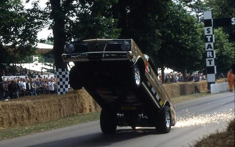 goodwood festival of speed 2001- hemi under glass dragster - bob riddle