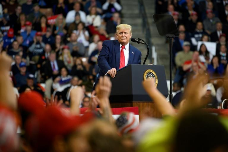US President Donald Trump (pictured February 2020) is infamous for his own prolific social media use (AFP Photo/JIM WATSON)