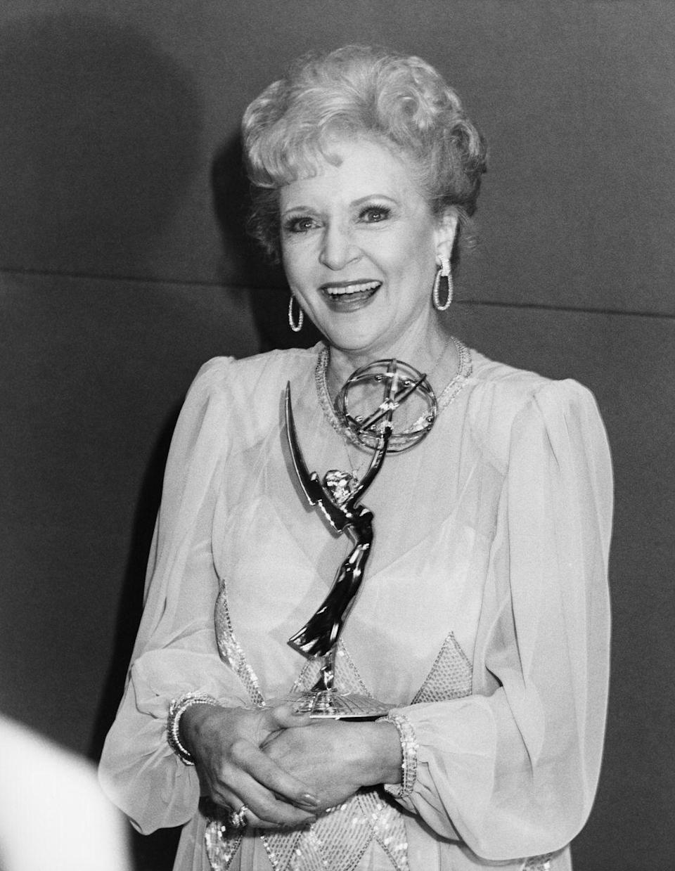 <p>In 1986, White won the Emmy for Outstanding Actress in a Comedy Series for her role on <em>The Golden Girls</em>. During the rest of the show's run, she was nominated in that category every year. <br></p>