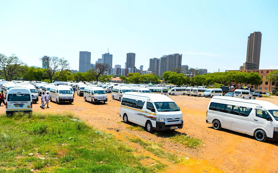 South African taxi operators strike over Covid-19 relief funding - Getty