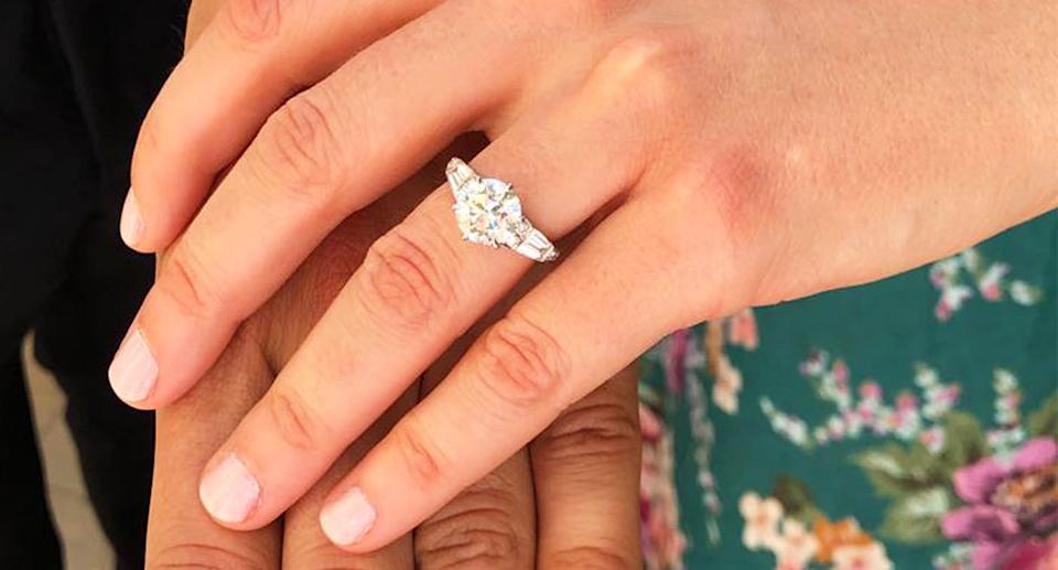 Princess Beatrice engagement ring: A close-up shot of the ring. [Photo: PA]