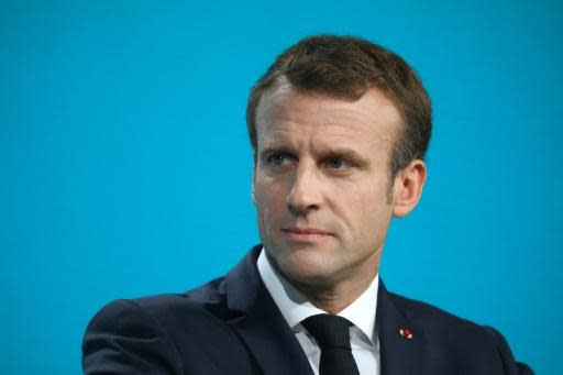 President Emmanuel Macron said France would increase by 15 percent its contribution to the Global Fund to Fight AIDS, Tuberculosis and Malaria