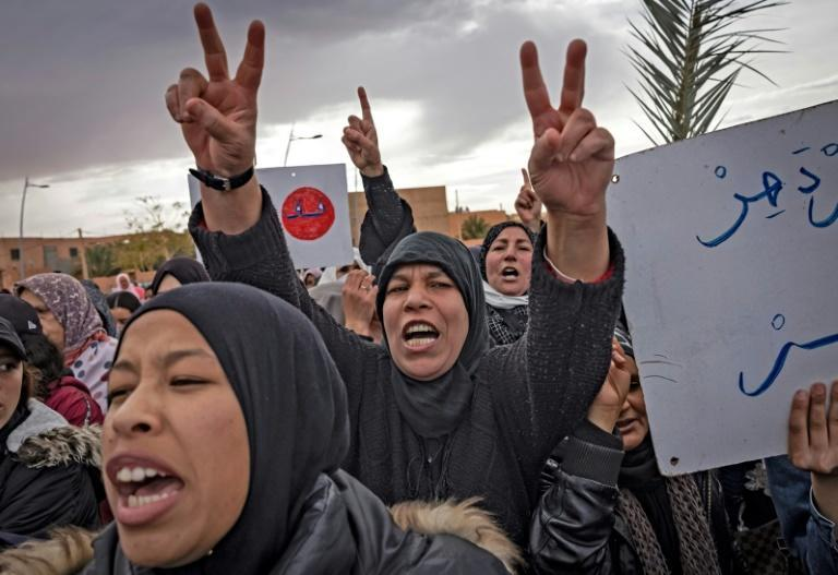 On Thursday, some 4,000 people -- around half Figuig's population -- attended an angry demonstration against Algeria's decision