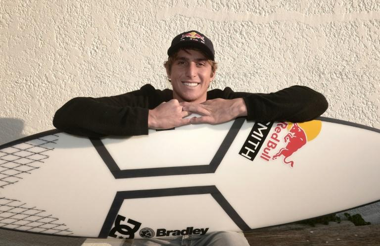 Leonardo Fioravanti, 19, is Italy's first and only professional surfer