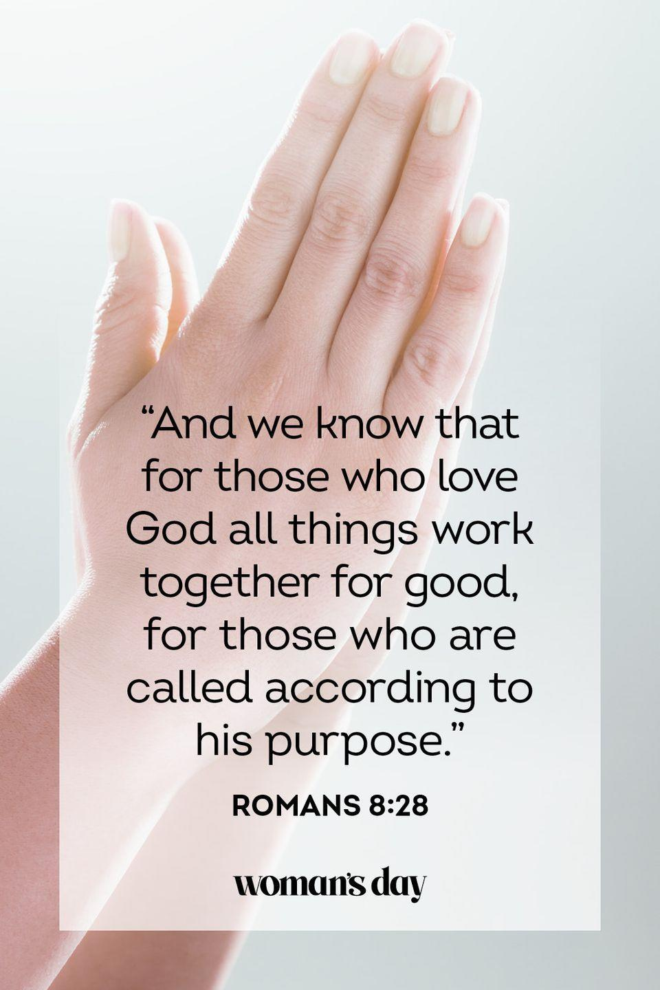"<p>""And we know that for those who love God all things work together for good, for those who are called according to his purpose.""</p><p><strong>The Good News: </strong>God wills nothing but good for us.</p>"