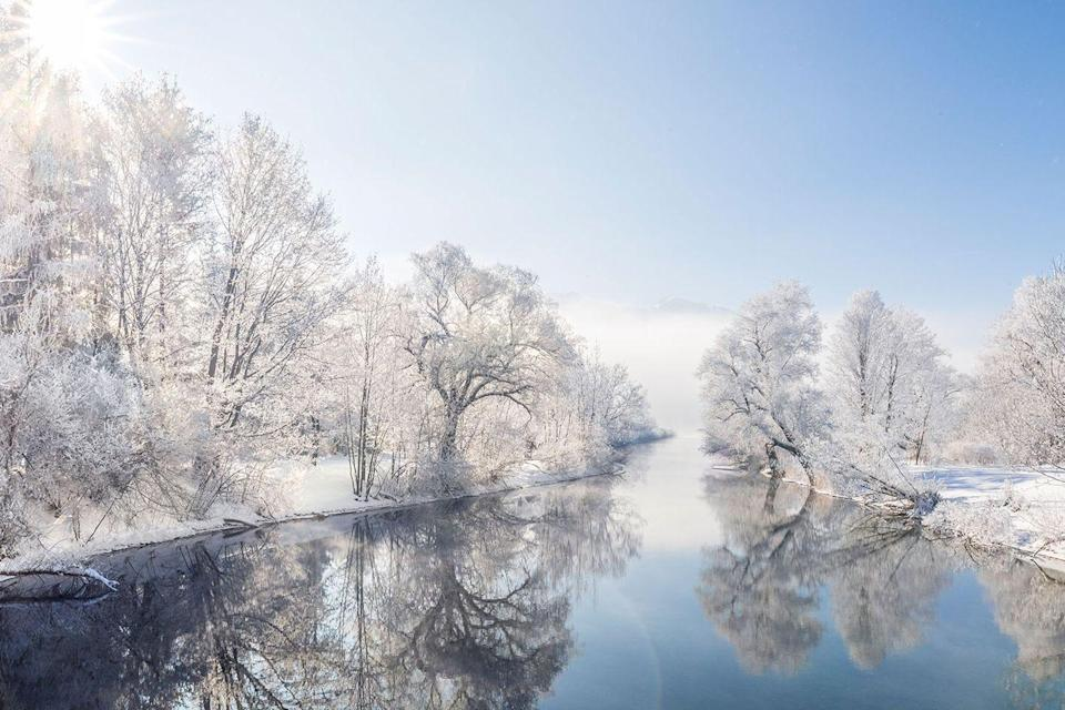 <p>Flights to Europe are cheaper in the winter, which means you have very little reason not to head to Bavaria, Germany to enjoy a winter scene like this at the River Loisach.</p>