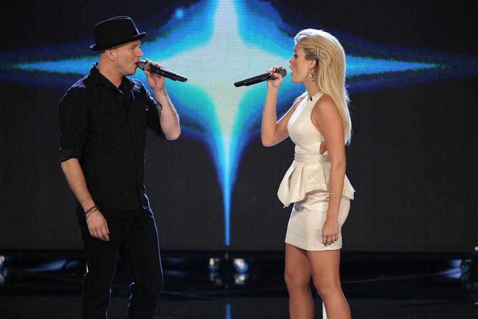 <p>Olivia Henken and Josh Logan were both members of Christina Aguilera's team on <em>The Voice </em>in season 5. That's where the couple first worked together and fell in love, while competing for a record deal. Neither of them took home the grand prize, but they did get married in 2018. </p>