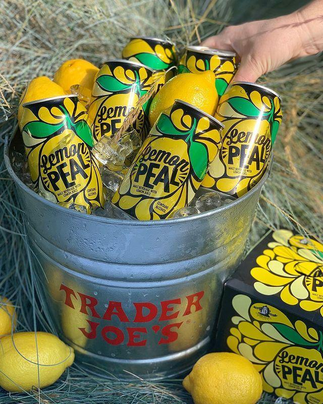 """<p>Hello, welcome to the end of your perfect summer beverage search. 'Tis right here (well, actually you'll have to leave your house and go to Trader Joe's, but 'tis right <em>there</em>). These """"Lemon Peal"""" cans are fizzy, tart, and—best of all—boozy. The malt beverage has a 5.7% ABV.</p><p><a href=""""https://www.instagram.com/p/By6dT6hnk9K/"""" rel=""""nofollow noopener"""" target=""""_blank"""" data-ylk=""""slk:See the original post on Instagram"""" class=""""link rapid-noclick-resp"""">See the original post on Instagram</a></p>"""