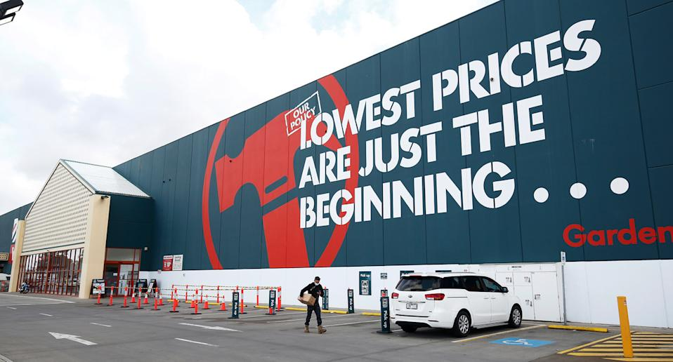 The front of a Bunnings store.
