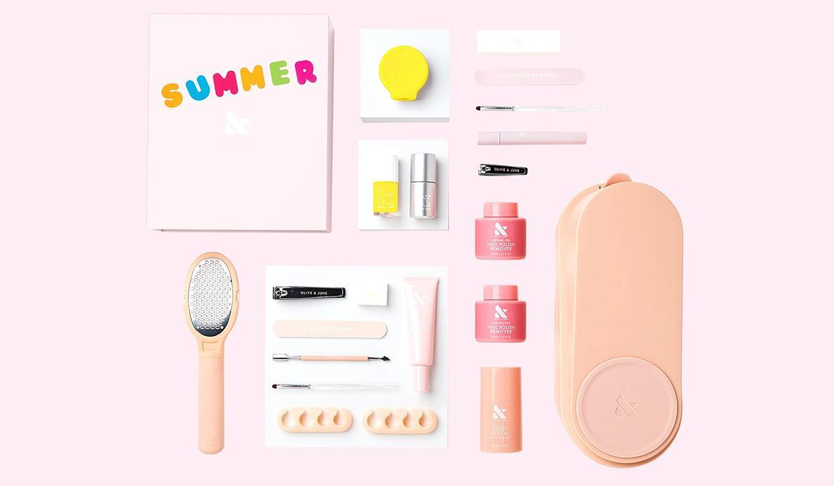 A DIY nail kit that's fun for the whole family (Photo: Olive & June)