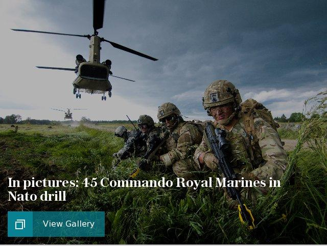 In pictures: 45 Commando Royal Marines in NATO drill
