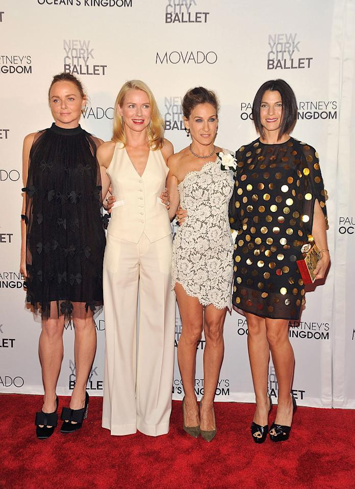 "Stella McCartney, Naomi Watts, Sarah Jessica Parker, and Jessica Seinfeld posed for a cute picture together upon arriving at the New York City Ballet's annual Fall Gala. In your opinion, which fashionable female was best-dressed? Gary Gershoff/<a href=""http://www.wireimage.com"" target=""new"">WireImage.com</a> - September 22, 2011"