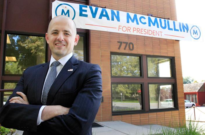 McMullin outside his campaign offices in Salt Lake City, Oct. 12, 2016. (Photo: George Frey/Reuters)