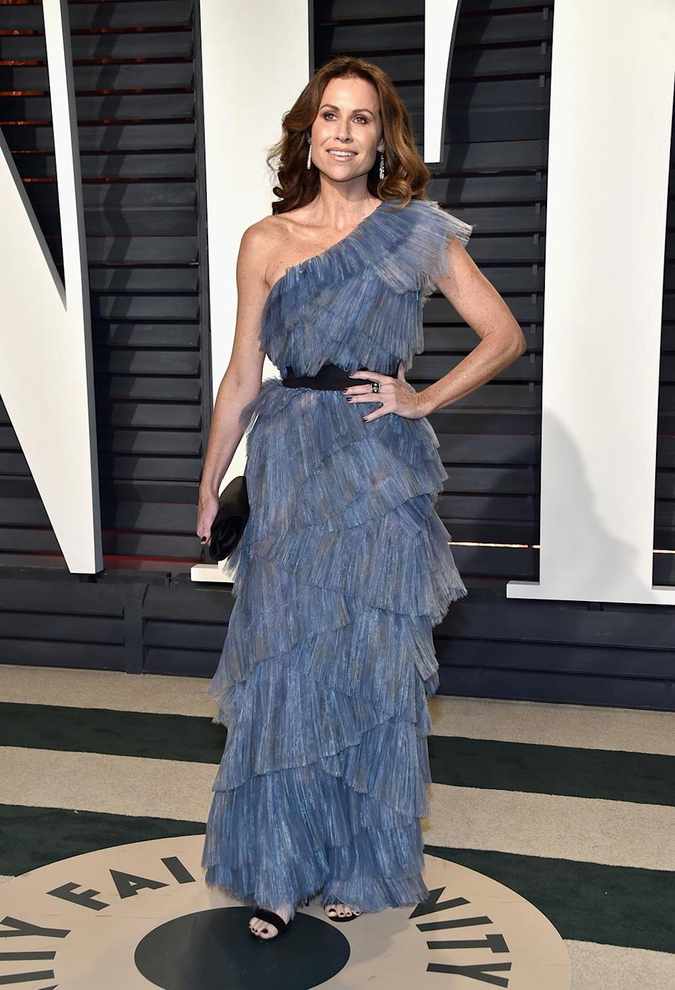 <p>Minnie Driver attends the 2017 Vanity Fair Oscar Party hosted by Graydon Carter at Wallis Annenberg Center for the Performing Arts on February 26, 2017 in Beverly Hills, California. (Photo by Pascal Le Segretain/Getty Images) </p>