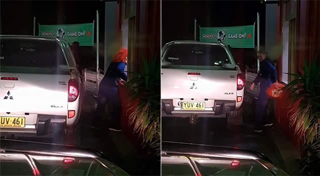 A woman was spotted in a McDonalds drive through in Eagle Vale. Photo: Facebook