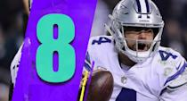 <p>Amari Cooper was the star, but Dak Prescott's 455 yards against the Eagles was impressive too. If Prescott plays like that (without the two interceptions he threw) that obviously raises Dallas' ceiling. (Dak Prescott) </p>