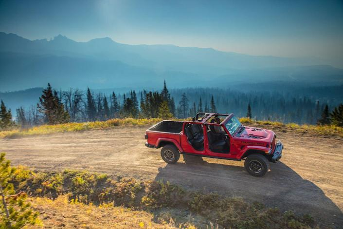"""<p>Call the Jeep what you want but know that it's not as big as a Ford F-150 or Chevy Silverado. With the Gladiator, we're talking about a truck that's roughly the size of <a href=""""https://www.caranddriver.com/chevrolet/colorado"""" rel=""""nofollow noopener"""" target=""""_blank"""" data-ylk=""""slk:a Chevy Colorado"""" class=""""link rapid-noclick-resp"""">a Chevy Colorado</a>, <a href=""""https://www.caranddriver.com/ford/ranger"""" rel=""""nofollow noopener"""" target=""""_blank"""" data-ylk=""""slk:a Ford Ranger"""" class=""""link rapid-noclick-resp"""">a Ford Ranger</a>, or <a href=""""https://www.caranddriver.com/honda/ridgeline"""" rel=""""nofollow noopener"""" target=""""_blank"""" data-ylk=""""slk:a Honda Ridgeline"""" class=""""link rapid-noclick-resp"""">a Honda Ridgeline</a>.</p>"""