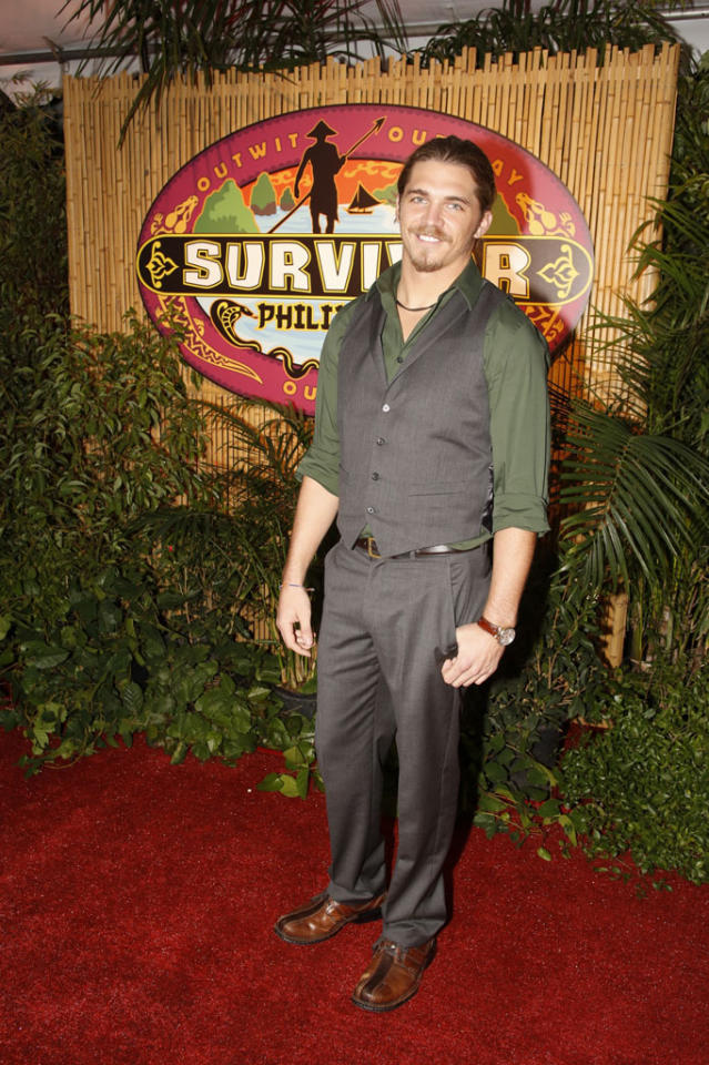 """Survivor: Philippines"" contestant, Malcolm Freberg, on the red carpet after the live one-hour reunion show."