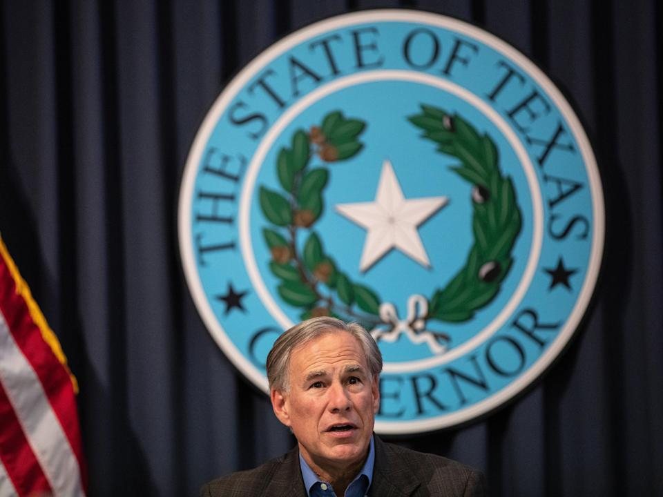 Texas Gov. Greg Abbott speaks during a border security briefing with sheriffs from border communities at the Texas State Capitol on July 10 in Austin, Texas (Getty Images)