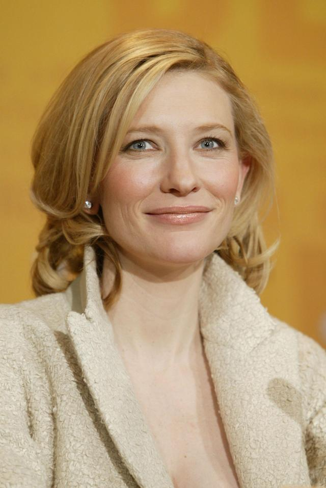 <p>Cate Blanchett attends the news conference to <em>The Missing</em> at the 54th Annual Berlinale International Film Festival on Feb. 7, 2004, in Berlin. (Photo: Sean Gallup/Getty Images) </p>