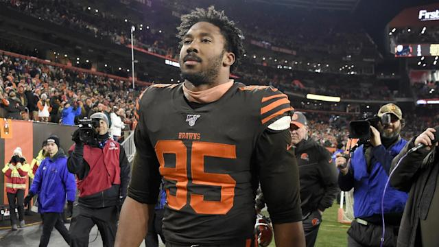 Myles Garrett discussed Thursday's shocking incident, which saw him hit Mason Rudolph with a helmet.