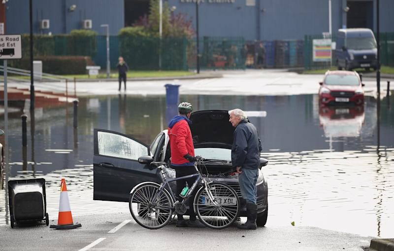 Flooding in Bentley, Doncaster as parts of England endured a month's worth of rain in 24 hours, with scores of people rescued or forced to evacuate their homes.